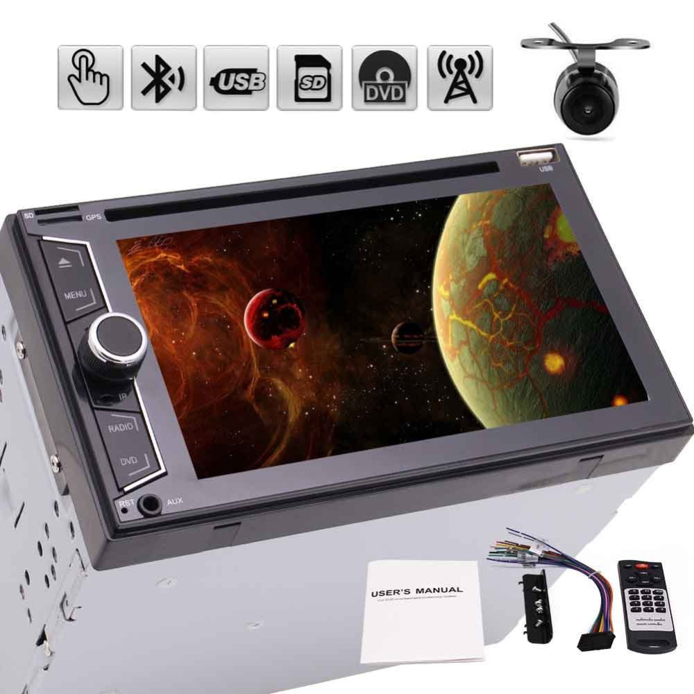 Rearview camera+car radio 2 din automagnitola double din car dvd player in dash 6.2'' 7 color button back light car pc for cars 7 inch 2 din bluetooth car stereo multimedia mp5 player gps navigation fm radio auto rear view camera steering wheel control