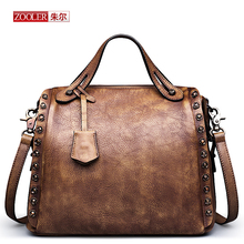 Vintage leather bag!!2016 new ZOOLER bags handbags women famous brands women leather bag First layer leather bag #5102