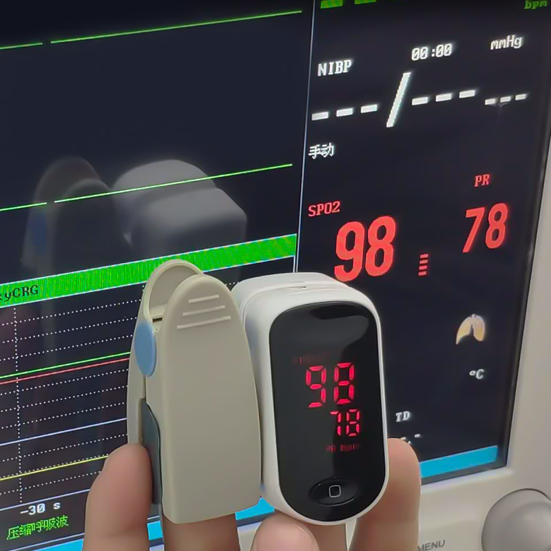 BOXYM Medical Fingertip Pulse Oximeter to Monitor Blood Oxygen Saturation and Heart Rate