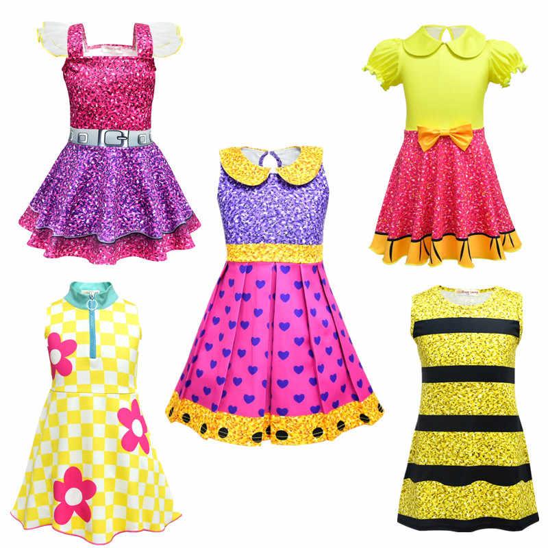 3e22be0e556c1 Girl LOL Dolls Dress Party Dress For Girl 's Birthday Halloween ...