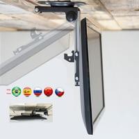 D MOUNT CB 1 17 37 Foldable 17 37 Screen LED LCD Ceiling Holder Monitor TV Car Mount Hanger Wall Mount Rack Cabinet Mount
