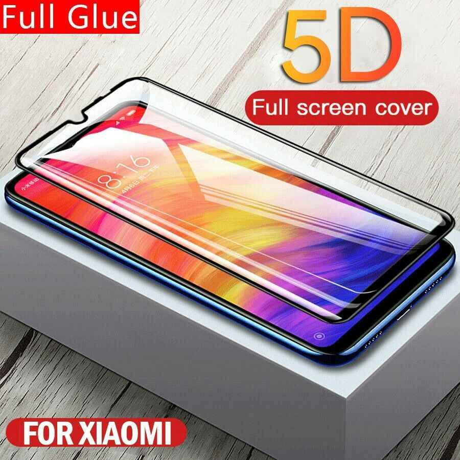 5D 強化ガラス Xiaomi Redmi 注 7 6 5 プロ Pocophone F1 Mi9 Xiaomi Redmi 注 5 5A Prime 保護ガラス