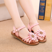 8d9f6598f0d516 SunFlowers Girls Sandals 2018 Summer New Girls Sandals Princess Shoes Baby  Open Toe Girls Shoes(