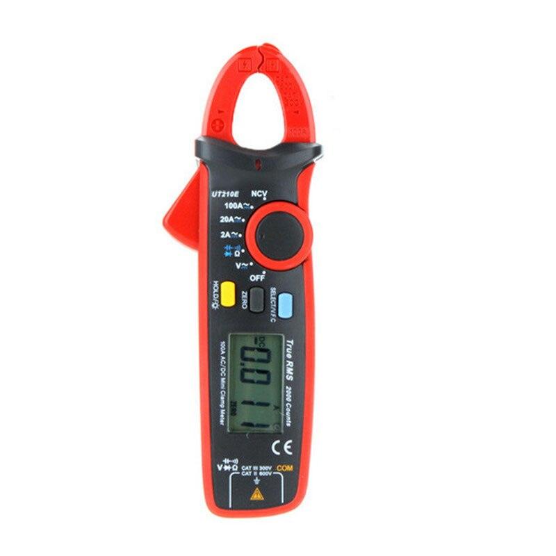 ФОТО New UT210E True RMS Mini Digital Clamp Meters AC/DC Current Voltage Auto Range VFC Capacitance Non Contact Multimeter Diode
