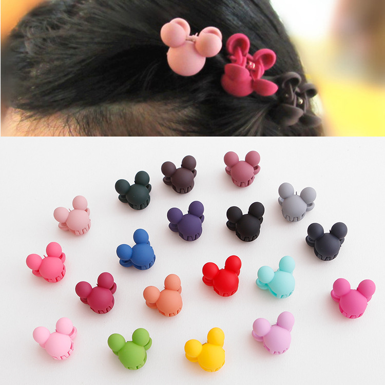 19/12 Pcs/Lot  New Acrylic Flower Hair Claws Girls Hair Gripper Kids Hair Accessories Princess Favor Candy Color Hair Clip