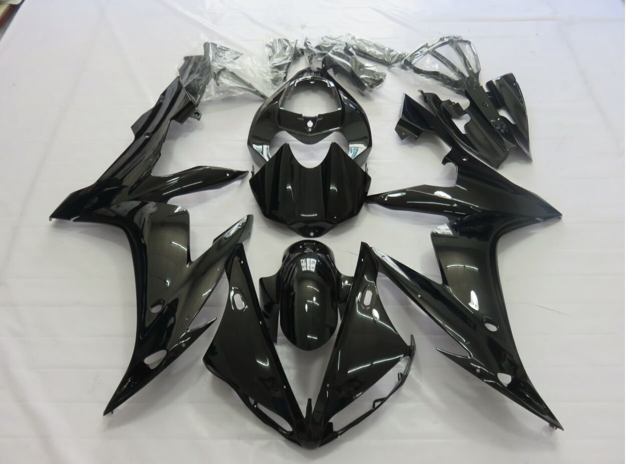 ABS Injection Motorcycle Fairing Bodywork Kit For Yamaha YZF R1 YZFR1 YZF-R1 2004 2005 2006 YZF1000 04 05 06 Gloss Black Cowl wotefusi black motorcycle injection mold bodywork motorcycle fairing for 2004 2005 2006 yamaha yzf1000 r1 04 05 06 3 [ck813]