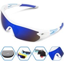Polarized Sports Sunglasses With 5 Interchangeable Lens for