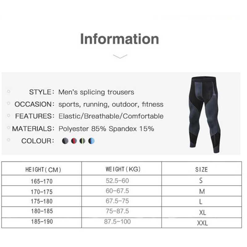 b29a02cb ... Для мужчин бег колготки Pro сжатия штаны для йоги Тренажерный зал  Фитнес Леггинсы Тренировки Баскетбол упражнения