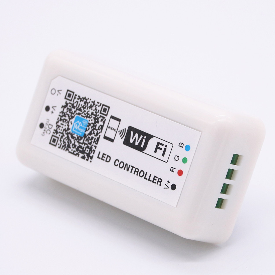 цена DC 12V 24V LED WIFI RGB Controller For SMD 5050 2835 RGB LED Strip Light Application to IOS and Android Mobile RV