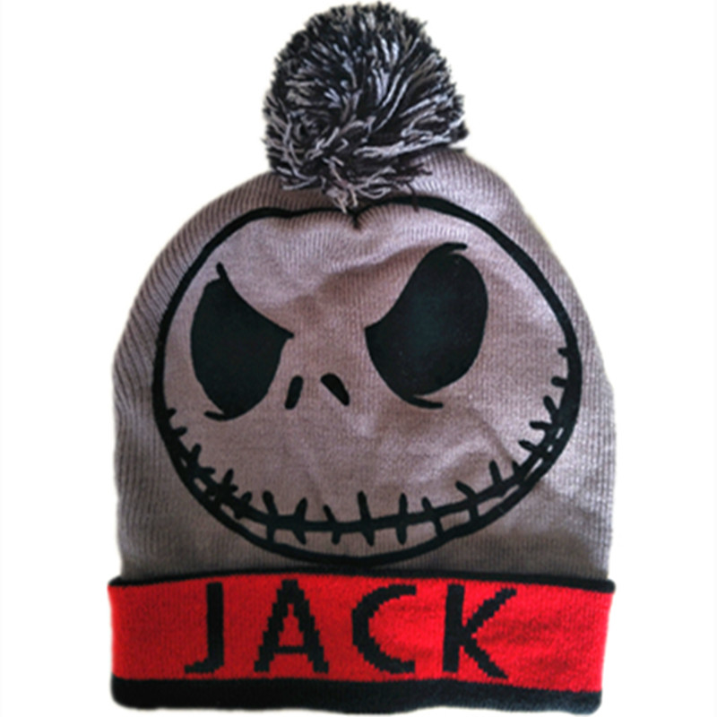 the Night Before Christmas Jack Skellington Skull Reversible Double-sided Wear Beanie Cap Adult Kid Winter Warm face mask Hat protective outdoor war game military skull half face shield mask black