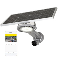 Anti theft mobile wireless 4g wifi control 30w monitoring cctv solar led street light