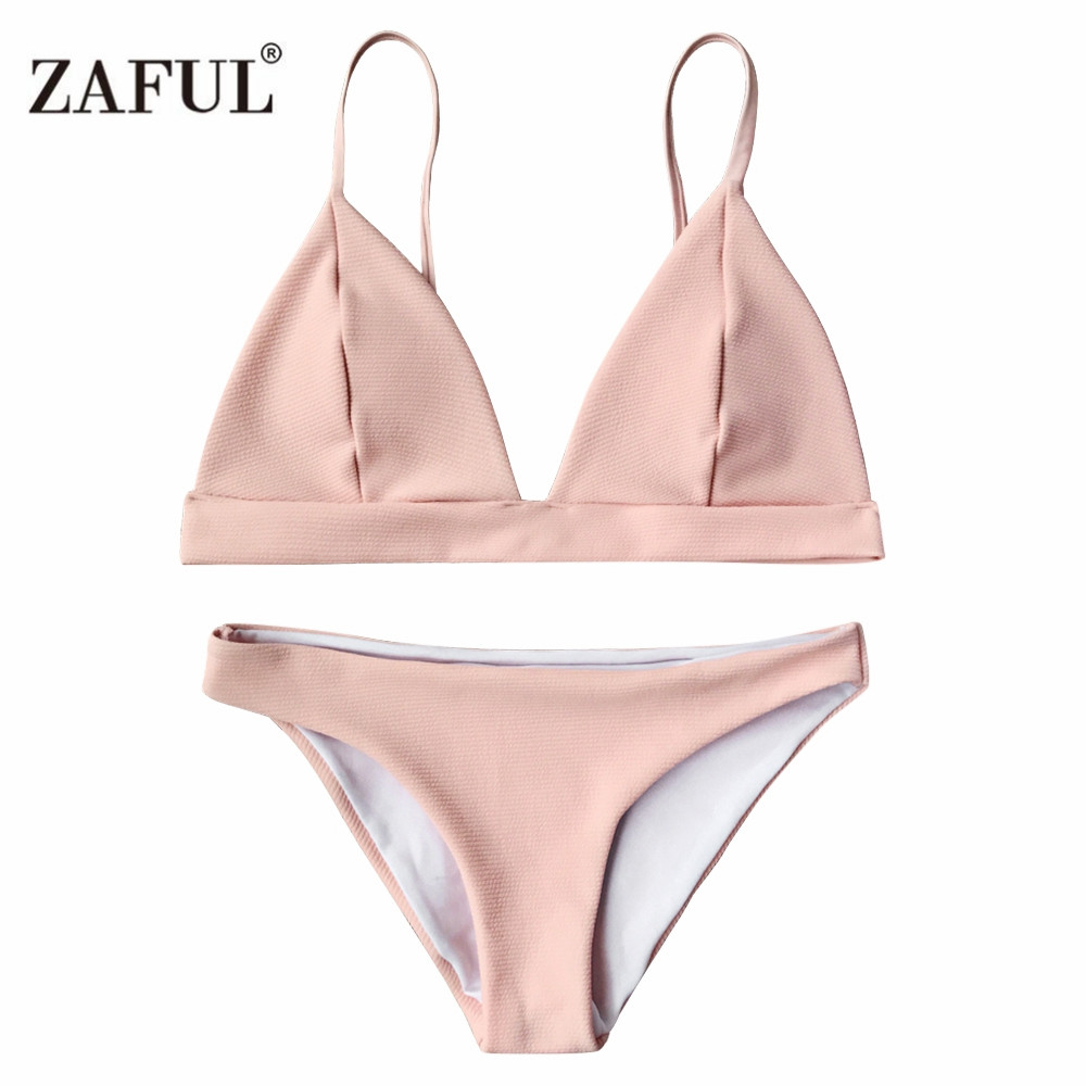 Zaful Cami Plunge Woman Bikini 2017 Summer bathing suit Women Bikini Sexy Swimsuit Set Bathsuit Swimwear Push Up High Quality neoprene swimwear women bikini woman new summer 2017 sexy swimsuit bath suit push up bikini set bathsuit ta008y