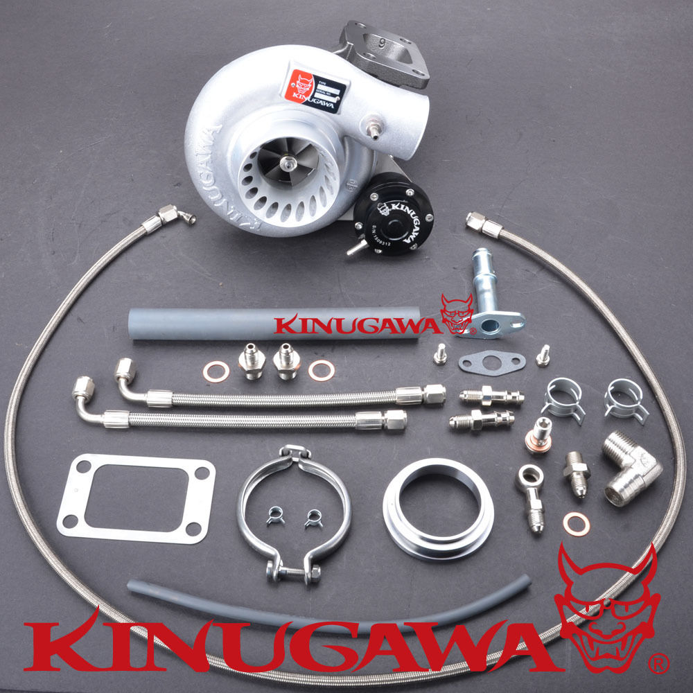Kinugawa turbocompresseur TD05H-18G-6cm T3 v-band Turbine câlin pour TOYOTA 1 HZ Land Cruiser