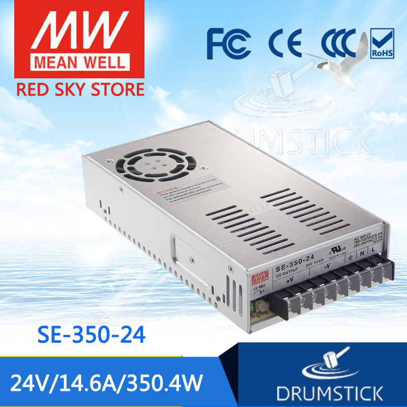 цена Genuine MEAN WELL SE-350-24 24V 14.6A meanwell SE-350 24V 350.4W Single Output Switching Power Supply