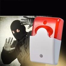 FORECUM Mini Wired Strobe Siren Durable 12V Sound Alarm Strobe Flashing Red Light Sound Siren Home Security Alarm System 115dB