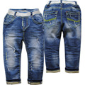 3916 azul suave pantalones del bebé niños jeans niños del bebé pantalón casual primavera otoño pantalones vaqueros bebé de la manera nuevo