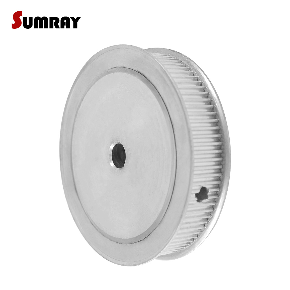SUMRAY 3M 100T Timing Pulley 8/12mm Inner Bore Aluminium Motor Pulley 16mm Belt Width Synchronous Wheel Pulley for CNC Machine купить недорого в Москве
