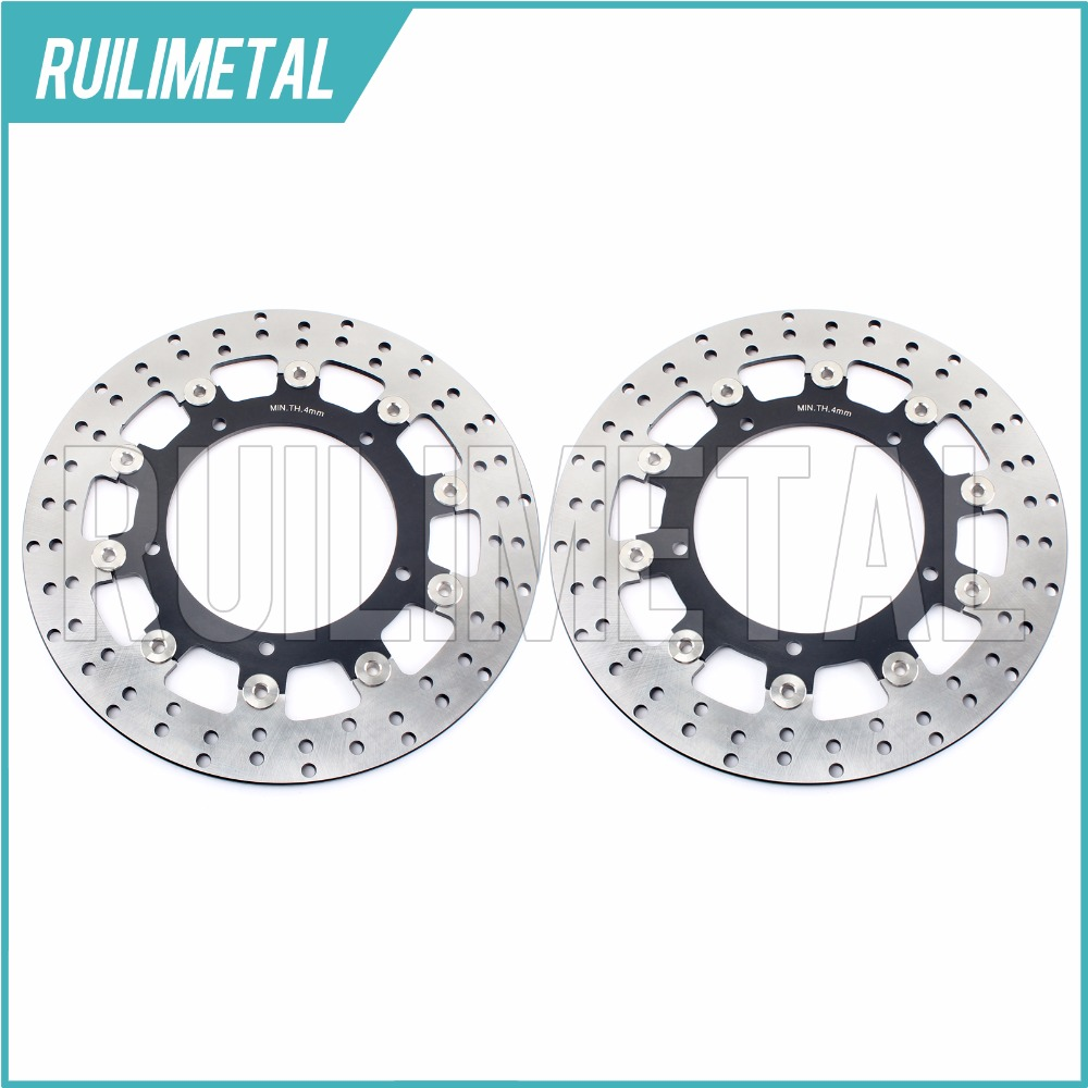 Pair Front Brake Discs Rotors for YZF R6 FZ6 FAZER S2 600 XJ6 DIVERSION 600 MT03 660 MT-09 850 MT-09 ABS 2014 2015 14 15
