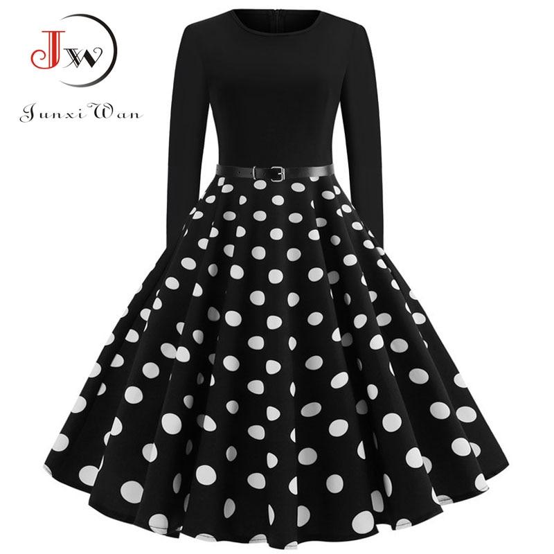 Winter Women Christmas Dress Long Sleeve Print Vintage Party Dress Elegant Black Patchwork Bodycon Dresses Vestidos Plus Size 15