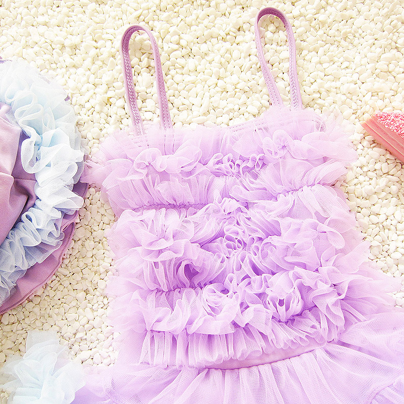 Childrens Swimwear Girls Baby bikini kids Swimsuit Have hair band Swimming Suit Grils Sweet Skirt bathing suit Shower
