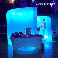 Портативный LED Надувные Photobooth форма спирали освещения надувные office для продажи