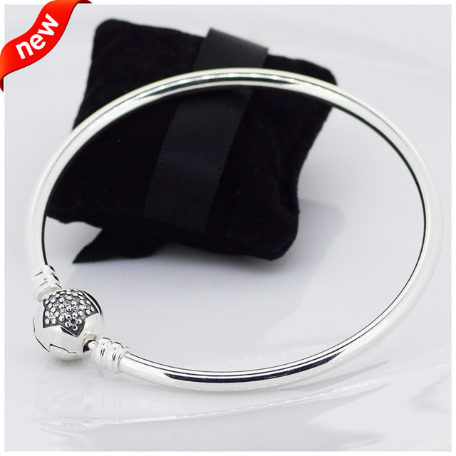 b763bdb72 Moments Star Bangles 100% 925 Sterling Silver Jewelry For Women Free  Shipping