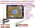 Nuevo 2014 GSM 3G Repetidor, doble Banda De Refuerzo 65dbi Señal Móvil 3G WCDMA GSM Booster 900/2100 Del amplificador de la gota
