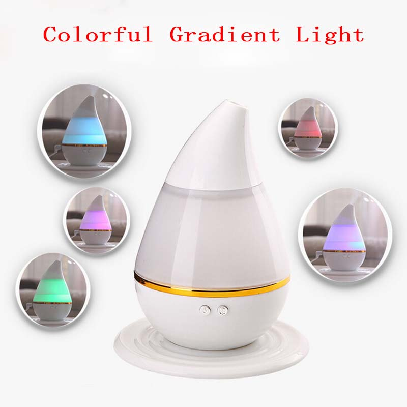 Air Humidifier Water Drop LED Light Aroma Fogger Atomizer Ultrasonic Humidifier Diffuser Mist Maker for Home Mini USB Humidifier