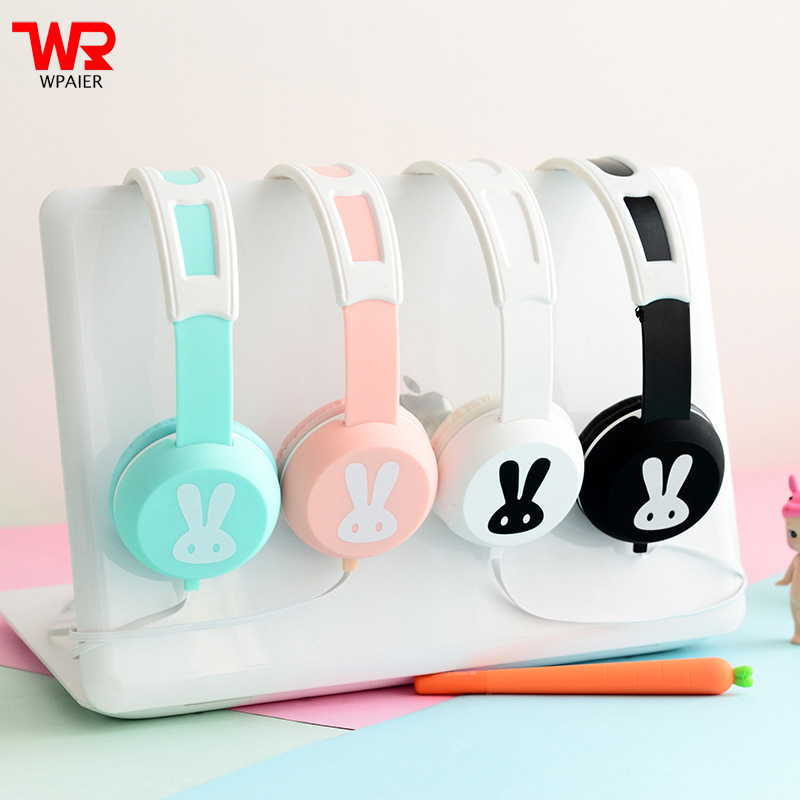 WPAIER EarSir EX02 Cute rabbit HQ Student headphones headband stereo headset with Microphone Universal Exquisite box kz headset storage box suitable for original headphones as gift to the customer