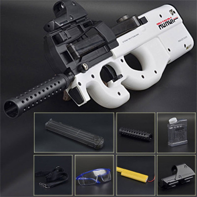 P90 Graffiti Edition Electric Toy Gun Soft Water Bullet Bursts Gun Live CS Assault Snipe Weapon Outdoors Toys For Children in Toy Guns from Toys Hobbies