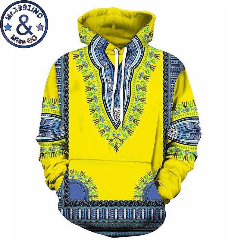 African Clothing Casual Hooded Sweatshirt Men Women Fashion 3D Dashiki Print Hoodies Sweatshirts Hip Hop Tracksuit