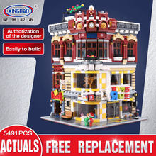 Xingbao 01006 Creative Moc City Series The Toys And Bookstore Set Compatible With LP Children Building Blocks Bricks Toy ZLRC(China)