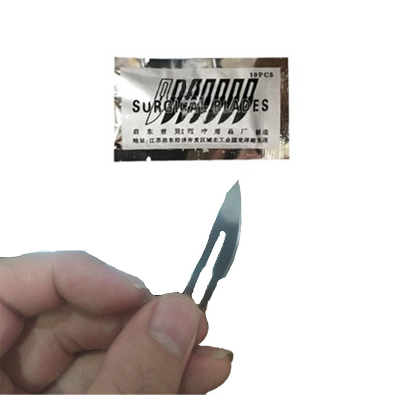 100 Pcs Disposable 23 # Carbon Scalpel Surgical Blade Use For Replaceable Repair Phone Paper Cut