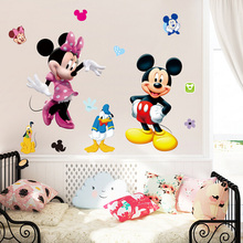 lovely 3d minne mouse wall stickers for kids rooms removable nursery bedroom cartoon mickey decals