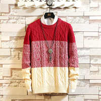 Sweater man 2019 autumn/winter season new round collar Korean edition trend loose handsome teen stitching jumper