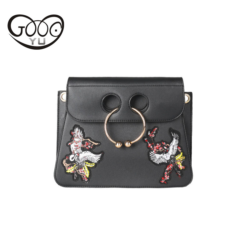 Women 's new pig' s nasal packs retro folk wind hand - embroidered oblique cross - small square bag portable Messenger bag justin s classic almond butter squeeze packs 6x10ct
