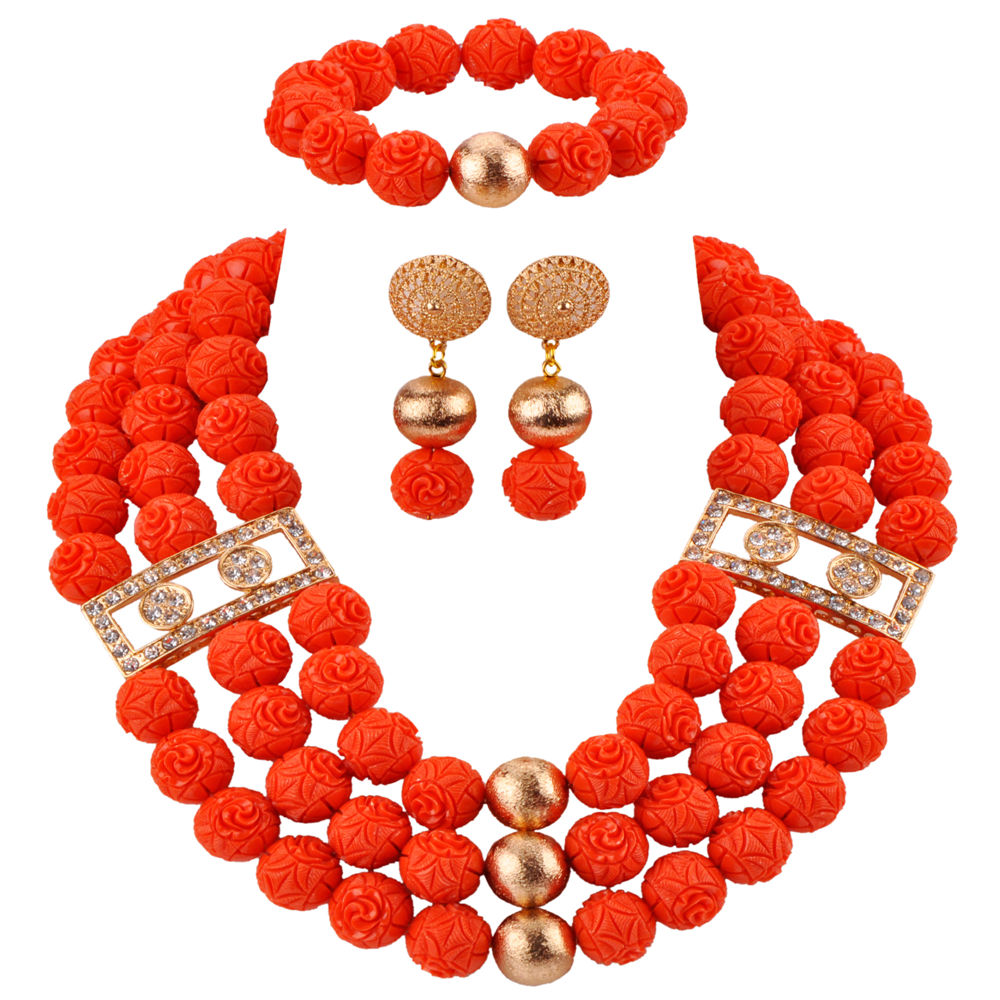 Pretty African Necklace Artificial Coral Beads Jewelry Set Nigerian Wedding Jewelry Sets for Women Bridal Jewellry CBS46Pretty African Necklace Artificial Coral Beads Jewelry Set Nigerian Wedding Jewelry Sets for Women Bridal Jewellry CBS46