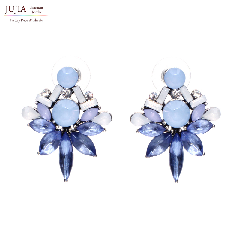 2019 Statement earring Trendy Jewelry Elegant Shiny crystal Stud Earrings For Women Factory Wholesale