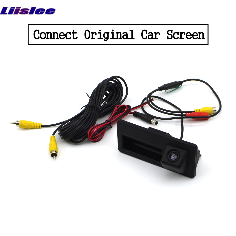 Liislee For Audi Q3 2010 2018 Front Rear View Reversing Camera Original screen upgrade Interface Adapter backup Camera Decoder in Vehicle Camera from Automobiles Motorcycles