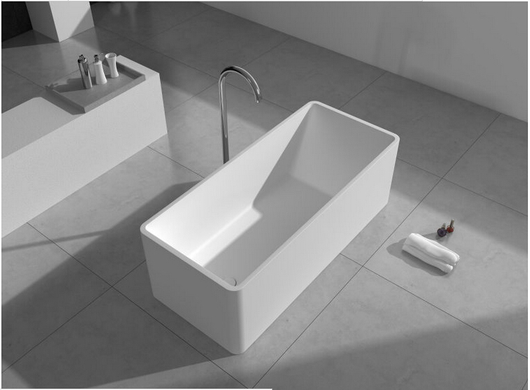 1500mm Solid Surface Stone Cupc Approval Bathtub Rectangular Freestanding Corian Matt Or Glossy Finishing Tub Rs6587