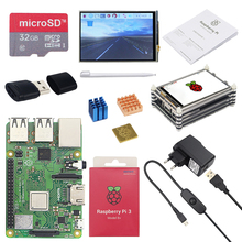 Raspberry Pi 3 Board with 3.5 inch Touchscreen and Power Adapter