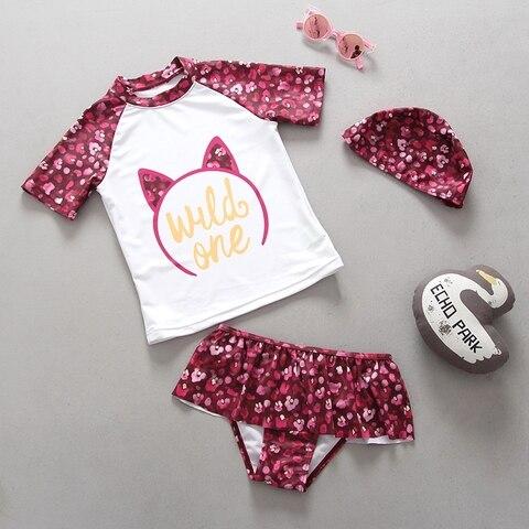 swimwear para meninas de poliester outfits k417 criancas duas pecas