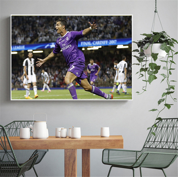 Sport Poster Prints Cristiano Ronaldo Real Madrid Football no frame Canvas painting Pictures HD Print decoration fabric poster no frame canvas