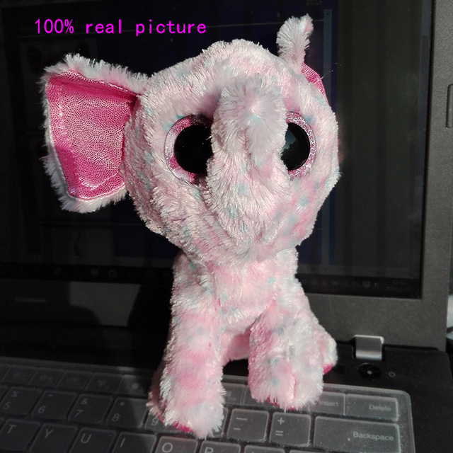 In Stock Original Ty Beanie Boos Big Eyed Stuffed Animal Ellie The