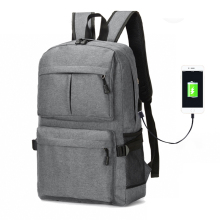 Laptop Bag Anti Theft Backpack With Usb Charging School Notebook Bag Men Oxford Waterproof Travel Backpack gray men s backpack with usb interface black laptop backpack zipper classic male blue travel school bag anti theft backpacks