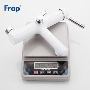 Image 5 - Frap белый смеситель для ванной комнаты, смеситель для ванной комнаты с раковиной grifo ducha