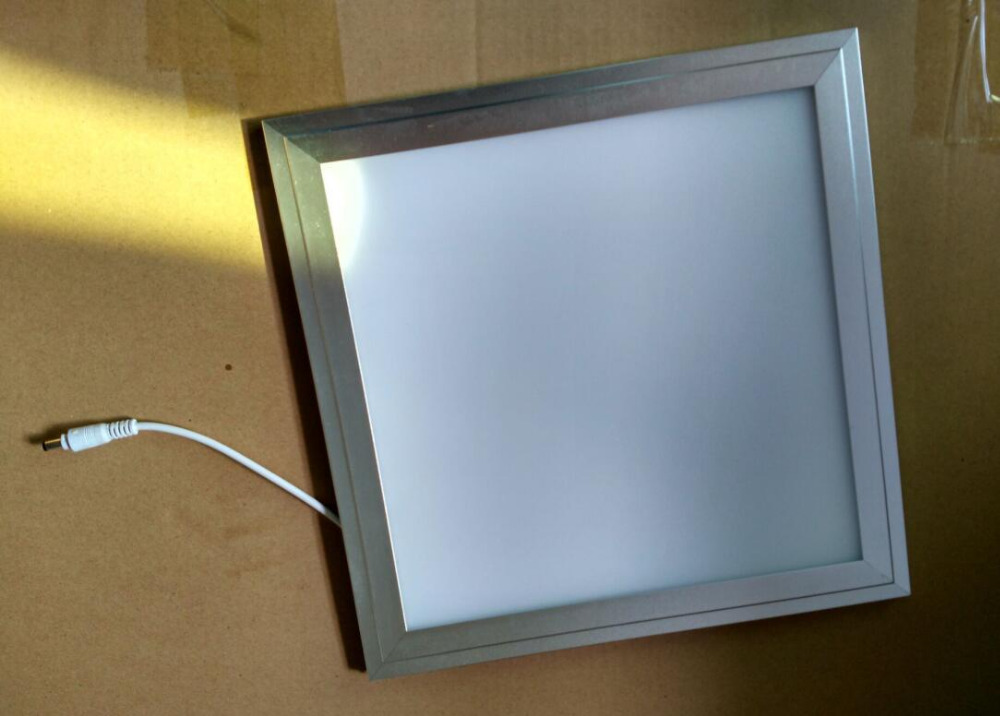 Free Shipping 18w 300x300mm silver and white frame flat led panel lighting Office/Home/Hotel indoor LED ceiling lamp