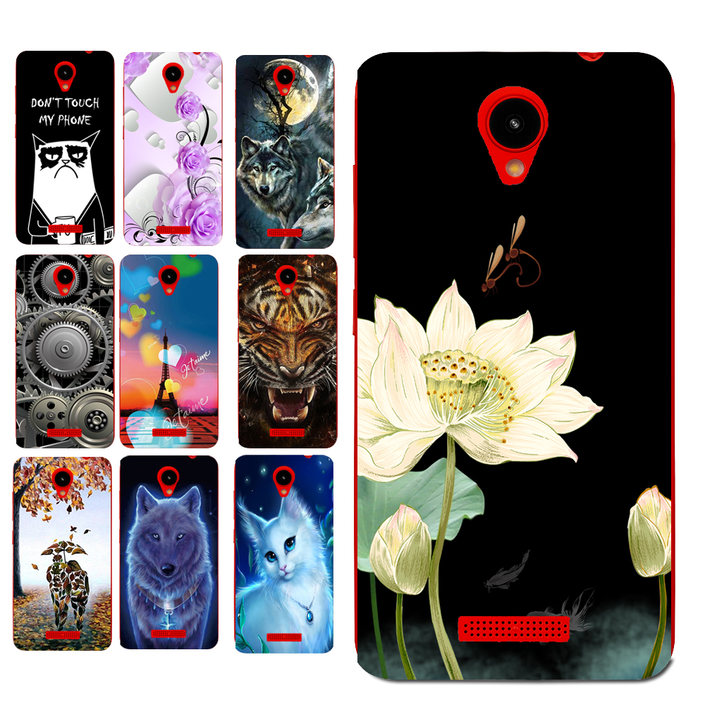Floral Sleepy Darling Baby Cat Animal Case For Prestigio Wize G3 PSP3510DUO Back Cover Bag TPU Cases
