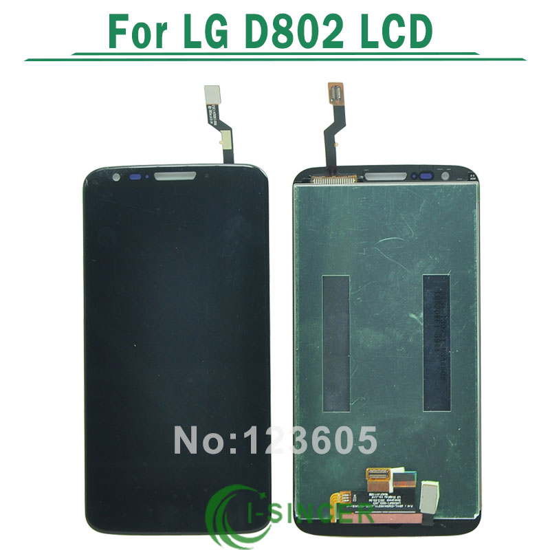 1/PCS black /white LCD Display Touch Screen +Digitizer Assembly for LG G2 D802 D805, free shipping