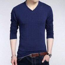 Горячие продаж молодежи популярны мужские Длинные рукава сплошной цвет Мужские пуловеры свитер v-образным вырезом мужская повседневная тонкий свитер простая одежда мужские